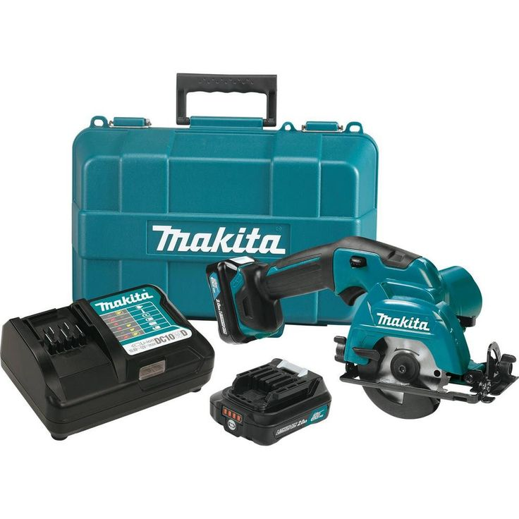 Makita 12-Volt MAX CXT Lithium-Ion 3-3/8 in. Cordless Circular Saw Kit with (2) 2.0 Ah Batteries, Charge, 20T Blade