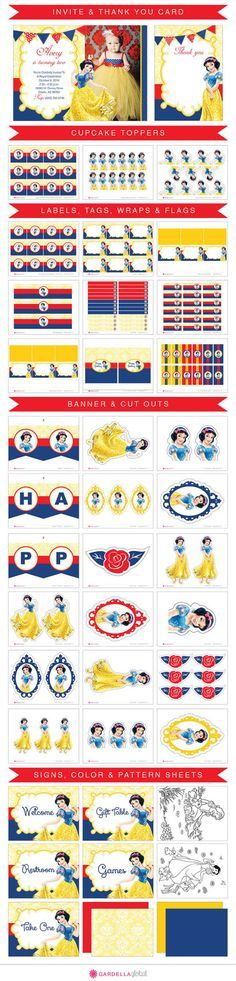 Snow White Invitation Snow White Invitation Snow por GardellaGlobal