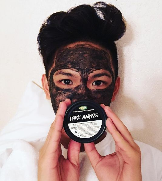 Lush Dark Angels is a black sugar cleanser that leaves oily skin feeling matte.