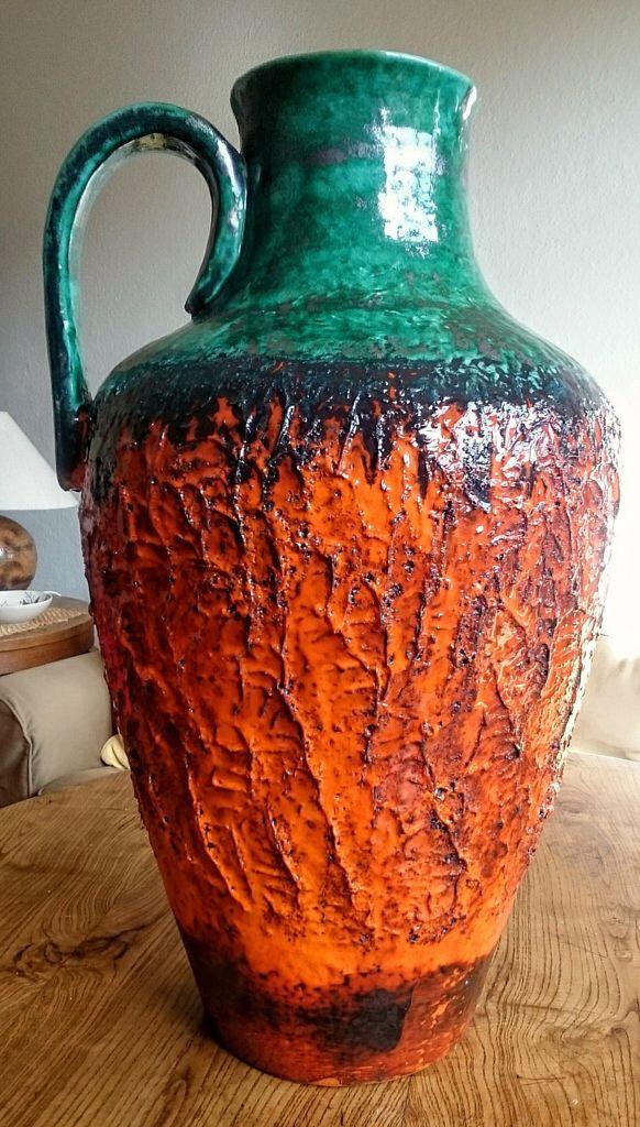 Carstens Tönnieshof - Massive Fiery Fat Lava Floor-Jug-Vase (220-57)
