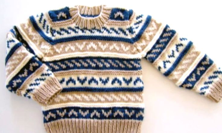 How to knit a sweater with knitting needles Free Fair Isle Pattern