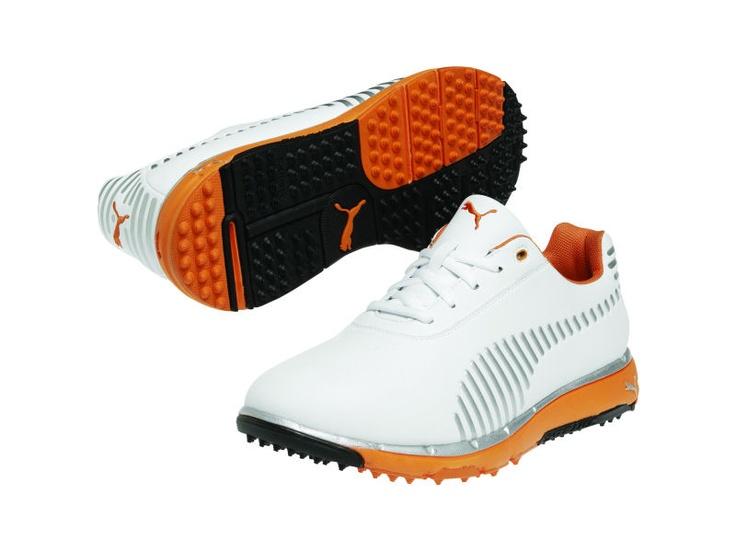 Puma Faas Grip Golf Shoes White Orange