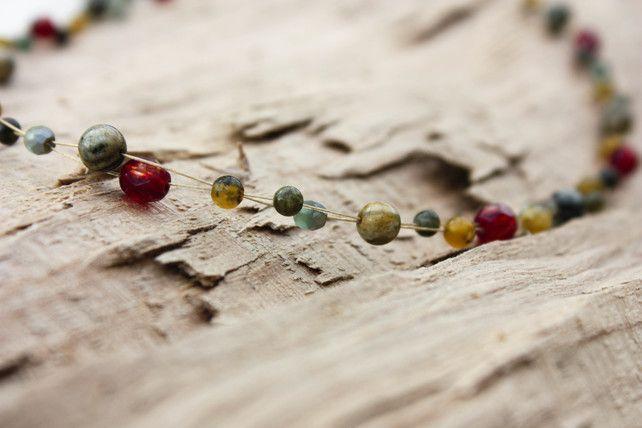 Jasper, Tourmaline and Czech Glass Choker Necklace £21.00