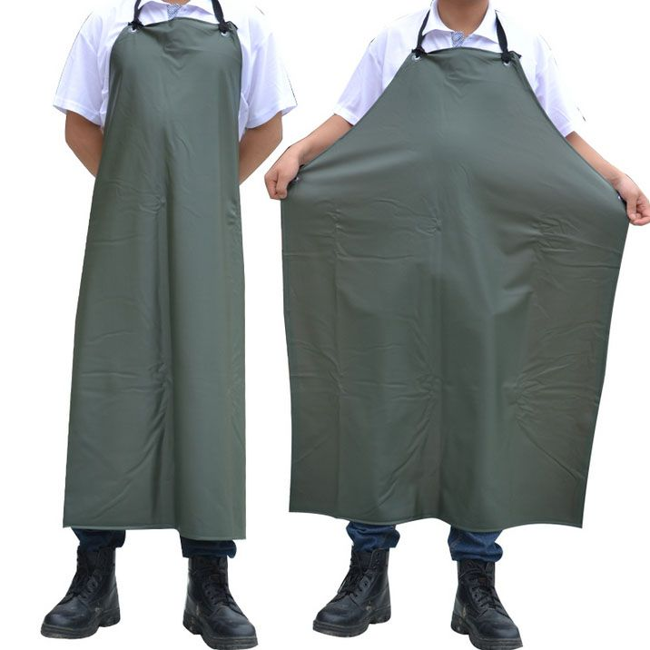 021059  Dark green compound double apron waterproof PVC apron thickening oil weak acid and alkali resistant food factory