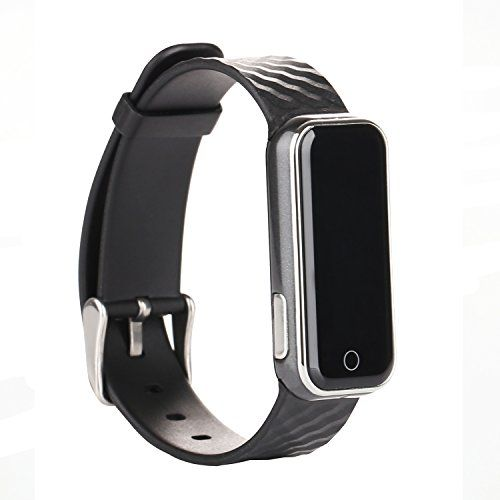 VILONG Smart Fitness WristbandBluetooth 40 Smart Band for IOSAndroid PhonePedometerHeart Rate MonitorBLACK ** You can find more details by visiting the image link.