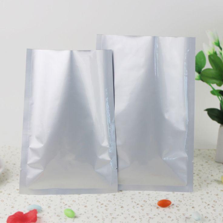 6x9cm Small Plain pocket 200pcs Silver Matte aluminium foil bags heat sealable - Dumb Aluminum plastic pouches Food pack sachet #Affiliate
