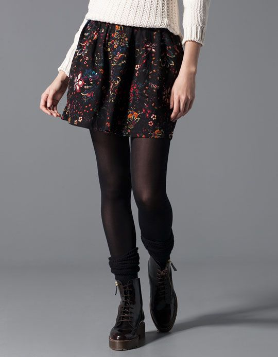 Stradivarius Print A-line skirt