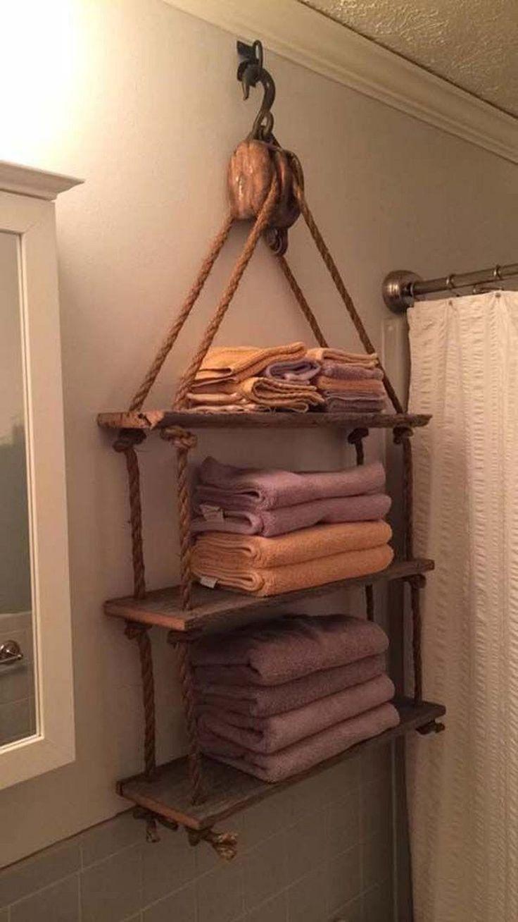 Unglaubliche Ideen, um dem Badezimmer einen rustikalen Stil zu verleihen (41)