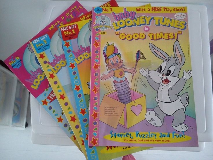 FOUR Baby Looney Tunes Comics. Issues 1, 2, 3 and 6. 1990's Job Lot.