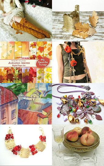 •♥•Autumn leaf fall•♥• by HOLMESTIES on Etsy--Pinned with TreasuryPin.com