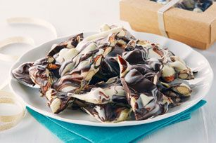 This Chocolate Marble Bark is twice as nice - made with semi-sweet chocolate and white chocolate, this festive favourite is perfect for gift-giving.