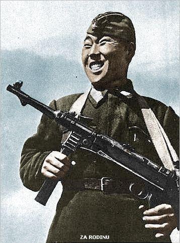 Soviet sniper Maxim Passar in Stalingrad 1942