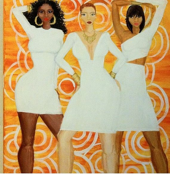 Sunrise Queens african american women print by MiarriDene on Etsy, $20.00 #blackArt #africanAmericanArt #painting