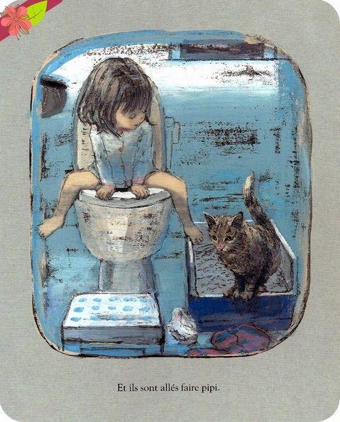 Réveillées les premiers !, texte et illustrations de Komako Sakaï, publié en 2013 par l'école des loisirs