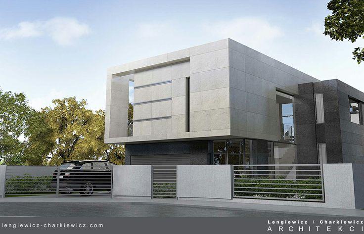 Projekt domu jednorodzinnego w Berlinie. Projekt: lengiewicz-charkiewicz.com