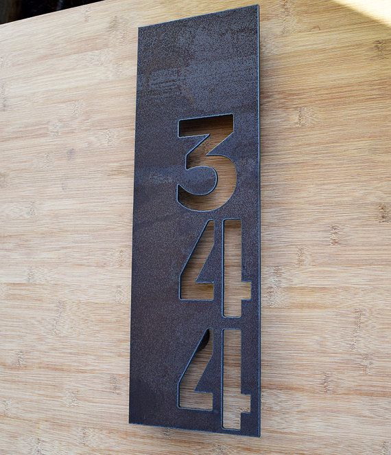 Taylor house numbers Modern address sign by CastandGrain on Etsy