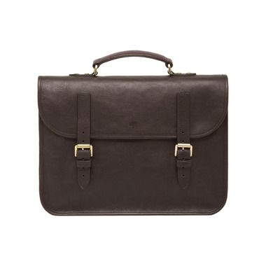 Mulberry Elkington in Chocolate Natural Leather