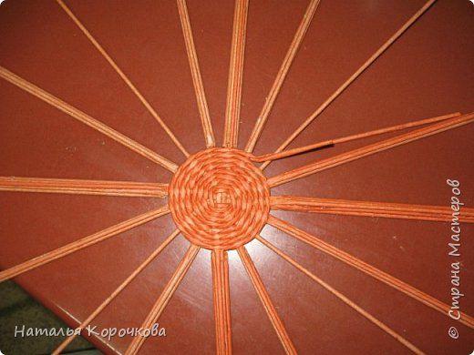Поделка изделие Праздник осени Плетение Тыква как сделать плетенки крепче и рельефнее Трубочки бумажные фото 5