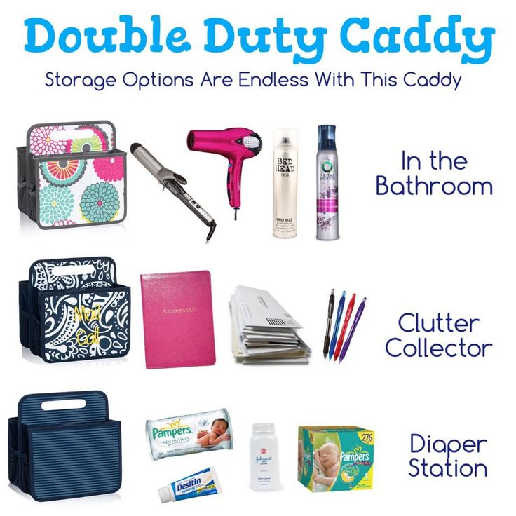 Storage Options are endless with this double duty caddy!