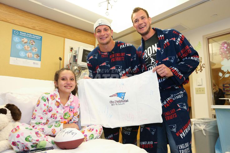 Gronk rocks Patriots onesie for Boston Children's Hospital pajama party | New England Patriots