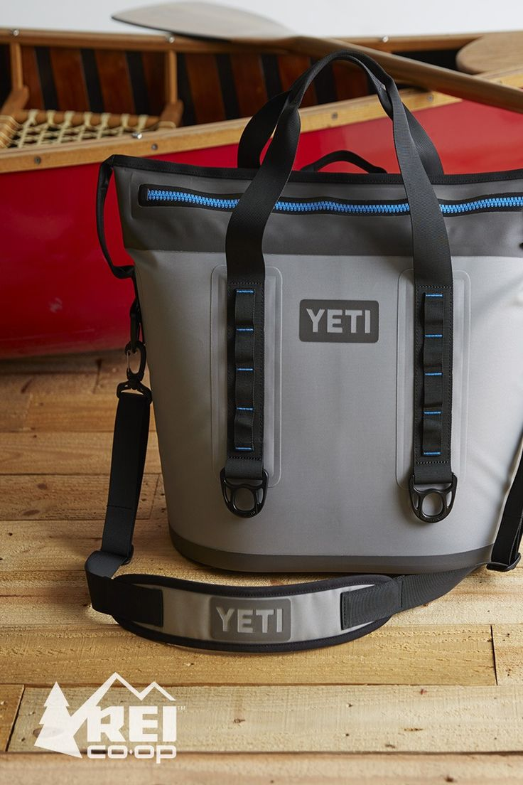 When you don't need a cooler the size of a steamer trunk, you'll find the YETI Hopper Two 30 soft cooler comfortable to carry and easy to store. It's souped-up with more cold-holding power, and is made with seriously durable materials and a leak proof zipper. 30L capacity. #LetsCamp