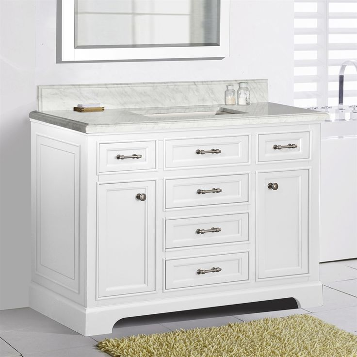 shop golden elite mil48wct 48in milan single sink bathroom vanity at loweu0027s