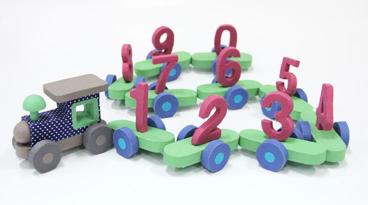 Numbers train - available in our shops