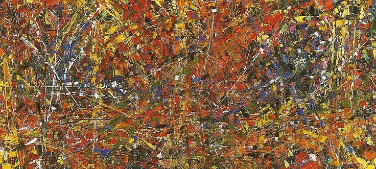 'Abstraction Orange' by Jean Paul Riopelle.