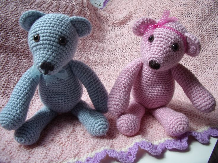 Hand crochet teddy's. /www.etsy.com/uk/listing/199789964/babys-first-teddy-bear?