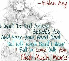But With Each Beat I Hear I Fall In Love With You That Much More Love Quotes For Anime Couples