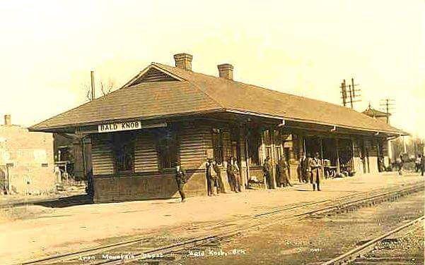 Bald Knob, Arkansas train depot