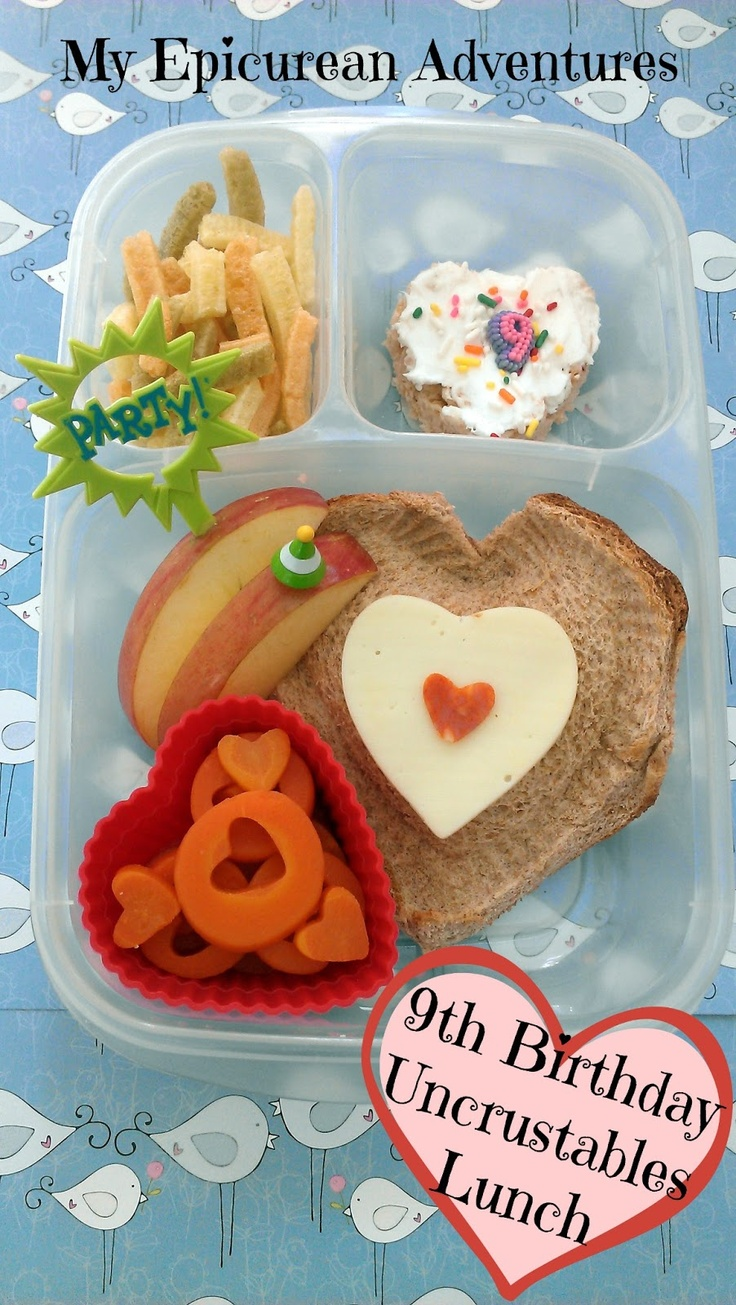 Uncrustables Birthday Lunch - My Epicurean Adventures: Happy 9th Birthday, Big Sis! #EasyLunchboxes #uncrustables