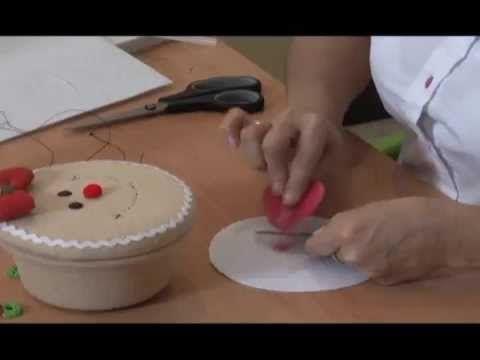 Parte 4/5- CARAMELERAS NAVIDEÑAS . Prof. Sonia de Franco Programa Nuestra Casa. Carameleras navideñas. 4/5