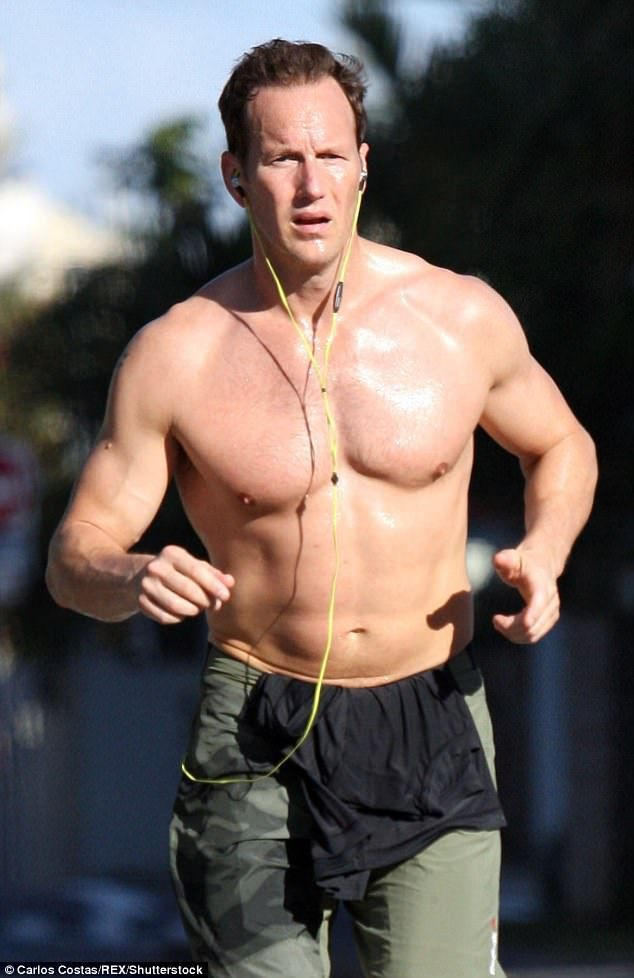 Working up a sweat! Actor Patrick Wilson has been spotted stepping out for a jog in Queensland on Sunday