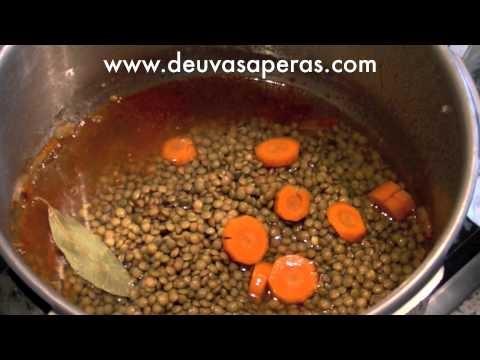 Esta receta de lentejas caseras en olla r pida o olla - Garbanzos olla express ...