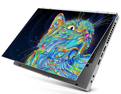 "15.4"" Laptop Notebook Skin Sticker Cover Art Colorful Cat Kitty HP Toshiba Acer"