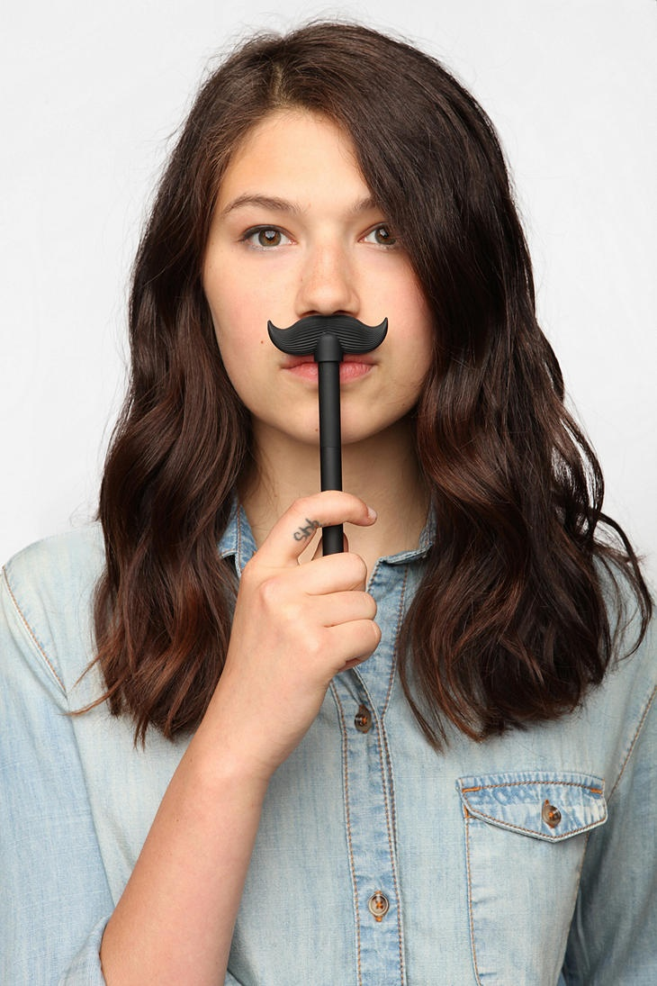 Talking mustache pen quot well hello there quot urbanoutfitters mustache