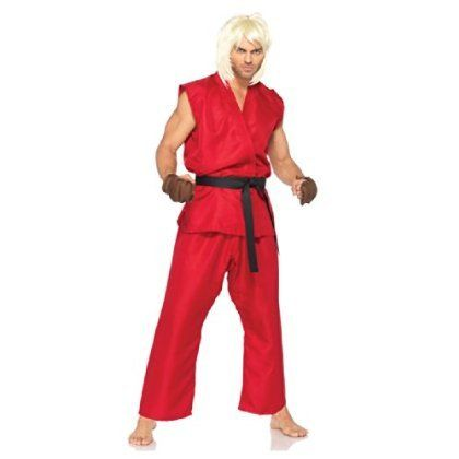 Street Fight Ken Costume 4 Pc Set Size Medium Large http://www.beststreetstyle.com/street-fight-ken-costume-4-pc-set-size-medium-large/ #fashion   Street Fight Ken Costume 4 Pc Set Size Medium Large Red gi top and pants, black belt and brown hand pads. Adult medium/large size fits sizes 42-46.