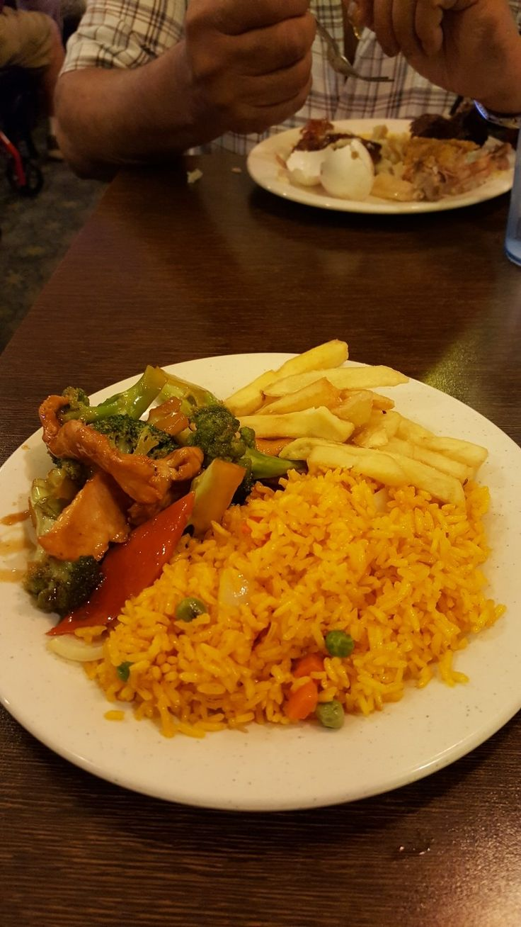 This is me at the Buffet with the program of Quality Life this is Chinese Fried Rice with Chicken Brocoli and French Fries at the Nippon Grill and Seafood Buffet at West Springfield.