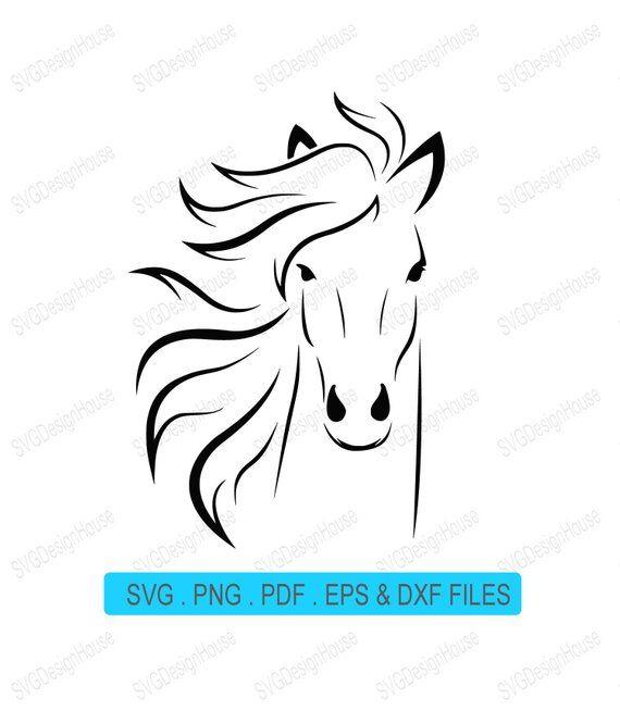 Horse Svg Horse Head Svg Horse S Head Svg Horse Head Svg Horse Vector Clipart Png Pdf Eps Dxf Vinyl Cnc Cricut Laser Horse Silhouette Horse Head Clip Art