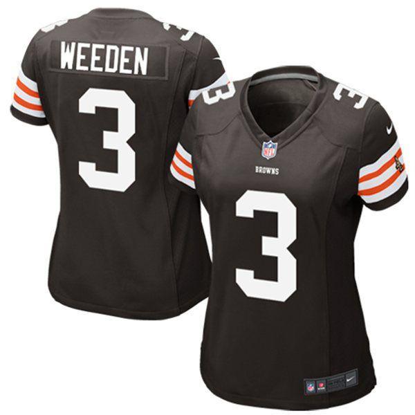 Brandon Weeden Cleveland Browns Historic Logo Nike Girls Youth Game Jersey - Brown - $17.99