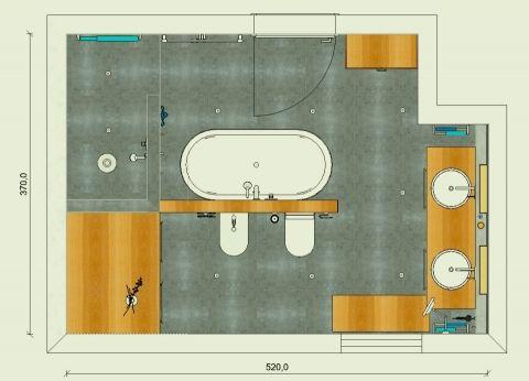 Nice Badaufteilung mit Sauna Grundriss