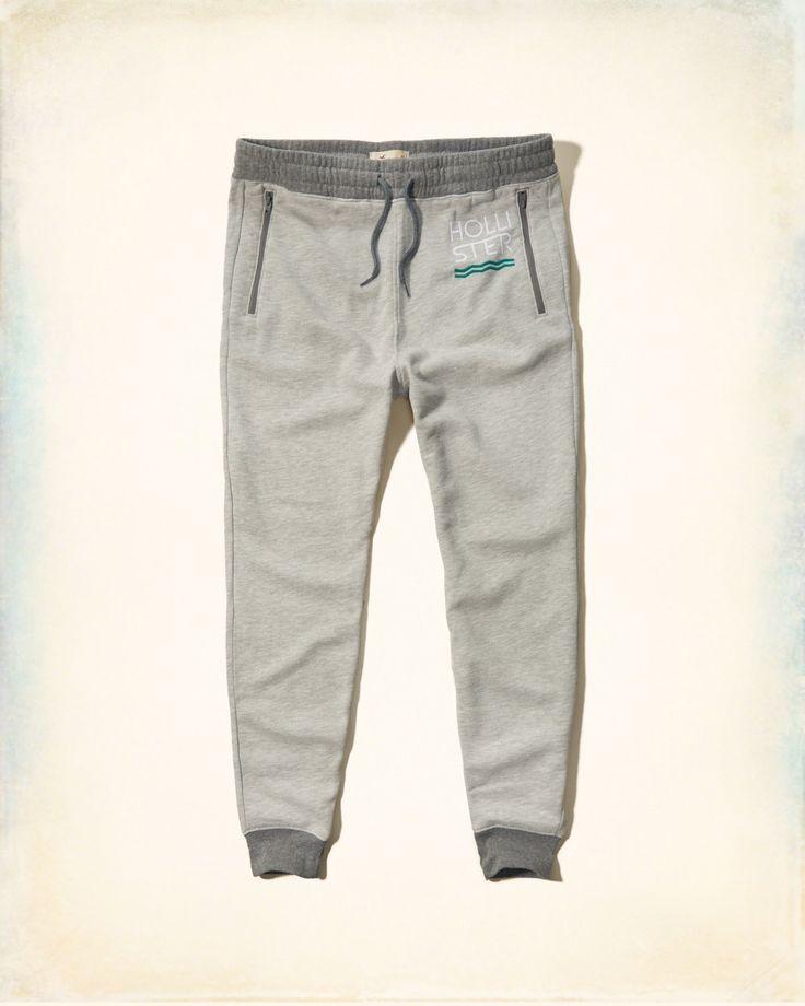 Guys Hollister Graphic Fleece Jogger Pants | Guys Jeans & Bottoms | HollisterCo.com