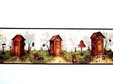 Bathroom Borders For Walls | ... Wallpaper Wall Decor Border Country Bath  Rustic Outhouses
