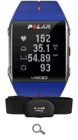 The newest addition to the Polar line of fitness watches and heart rate monitors. The V-800 is a GPS enabled multi-sport watch designed to be the smartest training companion yet. Available with or without heart rate for even more training statistics, the Polar V-800 will give you every piece of information you need to get the most out of your training.