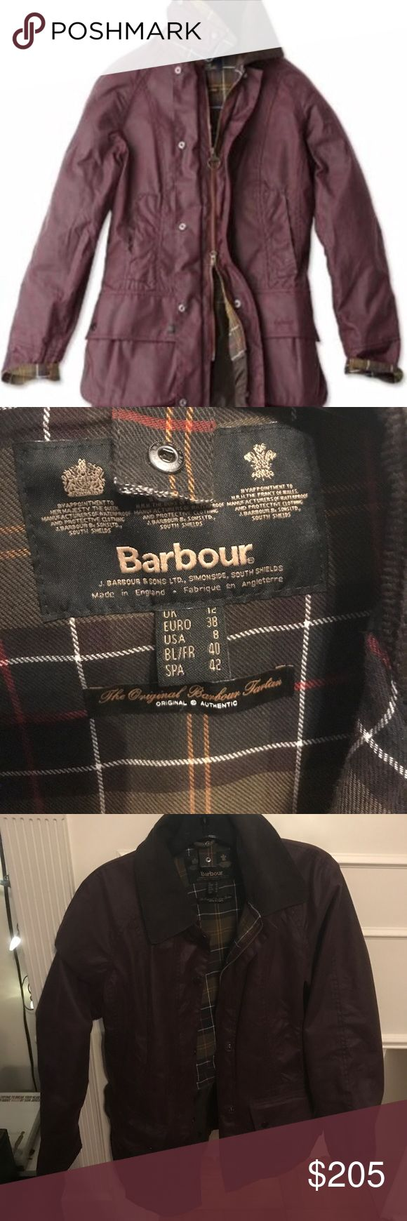 Amazing condition Barbour coat maroon size 8 Size 8, just rewaxed in the NYC store. Amazing condition. Worn a handful of times. Authentic. Barbour Jackets & Coats