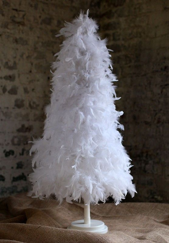 7 foot white feather tree white attach the tiered feather tree to the collapsable stand - White Feather Christmas Tree