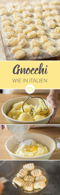 Gnocchi – ich liebe diese fluffig, leicht matschigen Mini-Klöße einfach. Sie nehmen Saucen so richtig schön auf und bringen für mich immer ein kleines bisschen Italienurlaub auf den Teller. Das Gute ist: Man muss wirklich kein Profikoch sein, um die kleinen Kartoffelklöße selbst zuzubereiten. Es ist etwas Arbeit, doch der Aufwand lohnt sich allemal. Sie schmecken einfach viel besser als gekaufte Gnocchi.