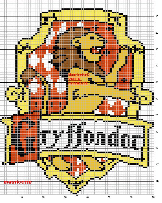 Harry Potter crest perler bead pattern by Mauricette