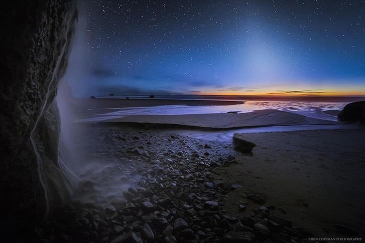 Бен Кофман фотограф пейзажей из Портленда, штат Орегон, который специализируется на ночной съемке, в частности, «ландшафтной астрофотографии» Млечного Пути.